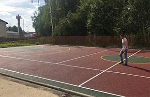 Разметка спортивных площадок